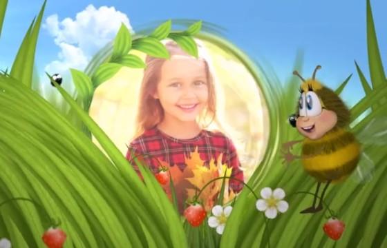 AE模板 有趣的卡通蜜蜂动画幻灯片相册 Funny Bee Slideshow