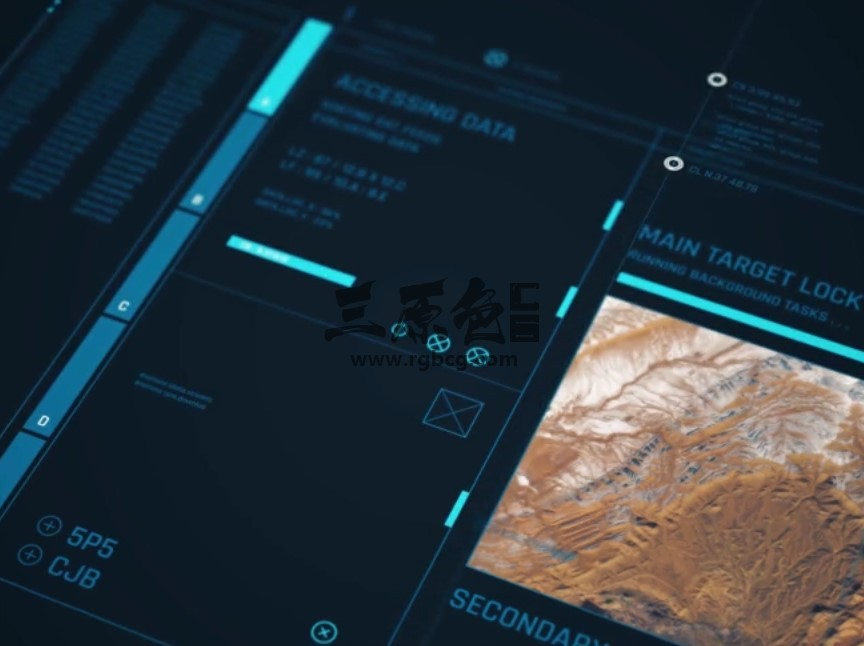 AE模板 高科技HUD软件机械框架透明动画 HUD Framework Ae 模板-第1张