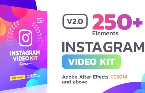 AE模板 竖屏/方屏手机移动设备视频模板 Instagram Stories v2.0.1