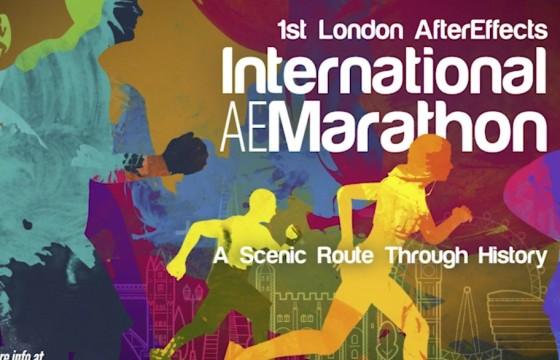 AE模板 马拉松赛跑者剪影展示动画 Marathon Runner Promo