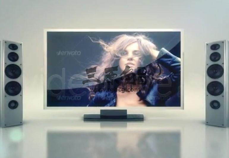 AE模板 电视扬声器LOGO标志片头 TV Speakers Logo Intro Ae 模板-第1张