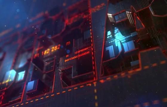 AE模板 E3D三维特效LOGO动画片头 Transforming Element 3D Logo