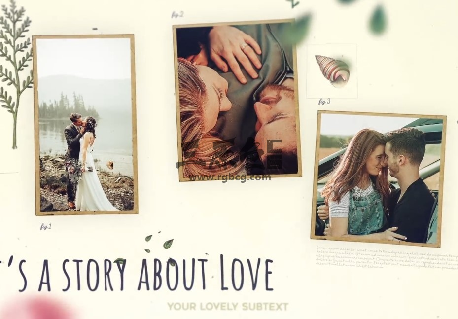 AE模板 浪漫温馨婚礼婚纱照幻灯片 Wedding Slideshow Ae 模板-第1张