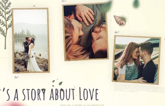 AE模板 浪漫温馨婚礼婚纱照幻灯片 Wedding Slideshow