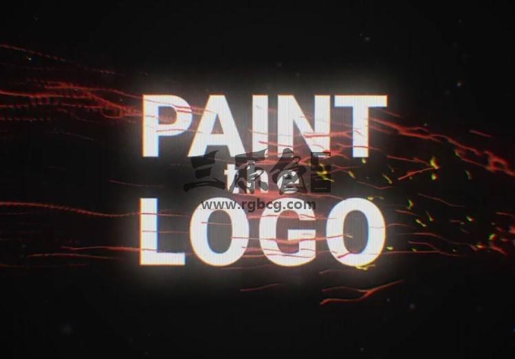 AE模板 LOGO标志动画片头 Paint The Logo Ae 模板-第1张