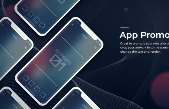 AE模板 手机移动APP/程序界面UI功能介绍演示 Prsentation