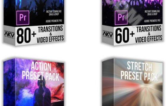 Pr转场过渡预设+配套音效 Transition Preset Pack Bundle