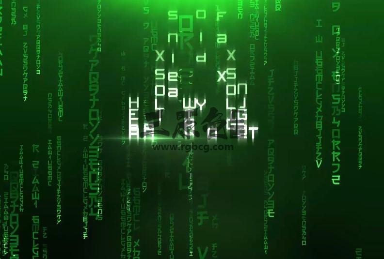 AE模板 - 黑客帝国文字片头显示特效 Cinematic Titles Ae 模板-第1张