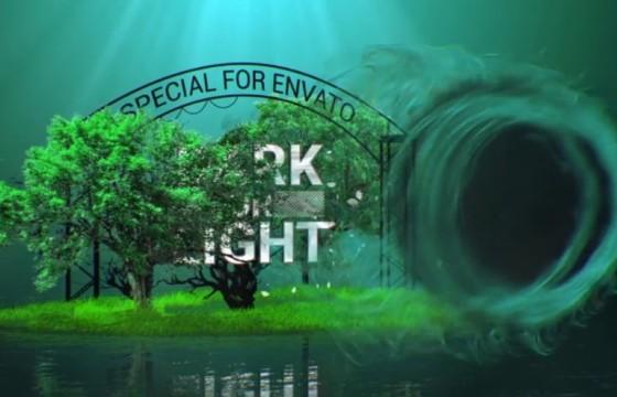 AE模板 创意合成特效logo片头 Light And Dark Intro