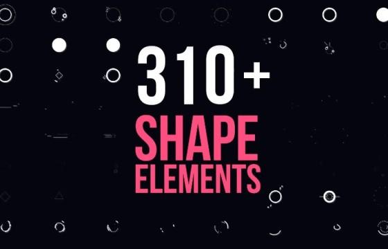 Pr基本图形模板 – 图形动画转场过渡效果 Motion Elements Pack