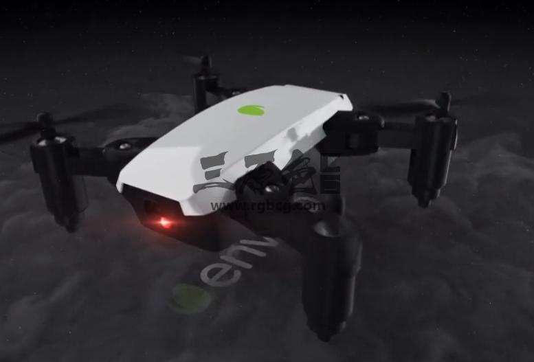 AE模板 无人机LOGO标识展示片头 Quadcopter Drone Logo Ae 模板-第1张
