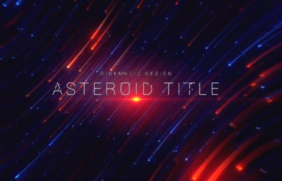 AE模板 行星背景动画文字标题预告片 Asteroid Cinematic Title