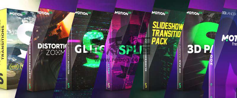 AE脚本扩展 - 转场/音效扩展合集 MotionBro Transitions Pack For Ae Ae 模板-第1张