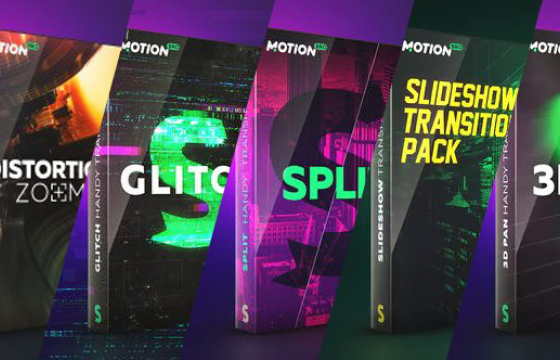 AE脚本扩展 – 转场/音效扩展合集 MotionBro Transitions Pack For Ae