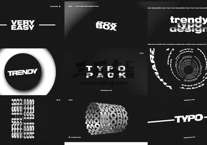 AE模板 文字标题字幕特效排版动画 Titles And Typography Ae 模板-第1张