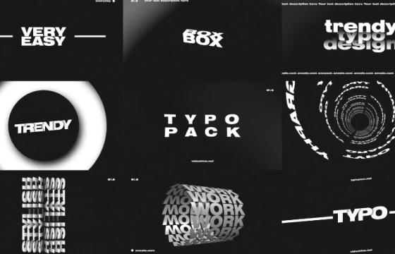 AE模板 文字标题字幕特效排版动画 Titles And Typography