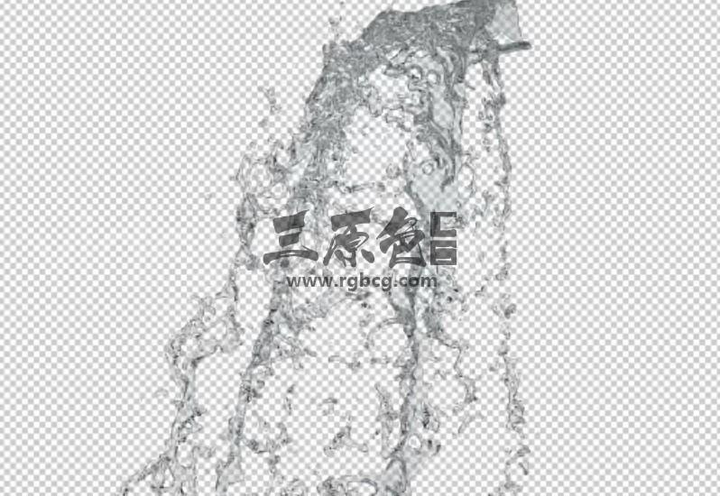 透明视频素材 流水泼水 水花实拍素材 Water splash pack 视频素材-第1张