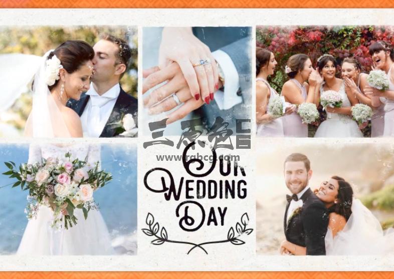AE模板 浪漫温馨婚礼婚纱照相册 Wedding Slideshow Ae 模板-第1张