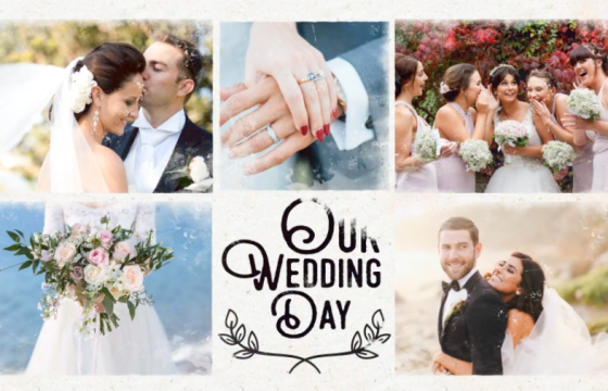 AE模板 浪漫温馨婚礼婚纱照相册 Wedding Slideshow