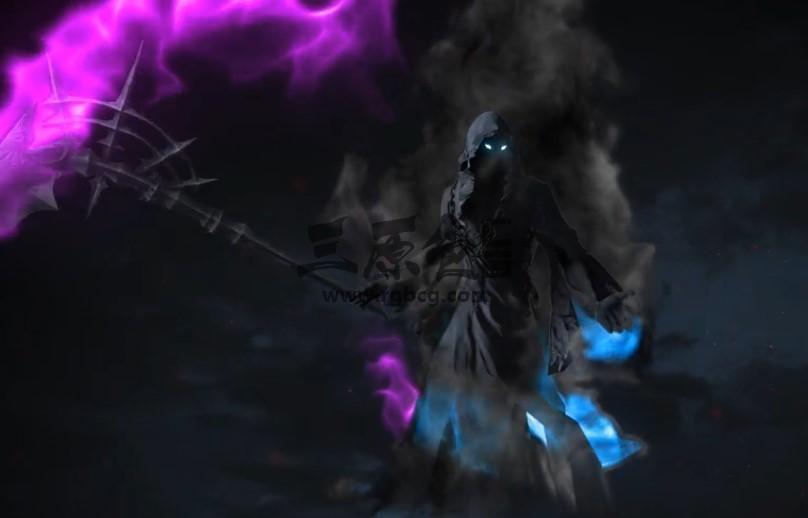 AE模板 - 死神镰刀LOGO标志开场片头 Cinematic Reaper Logo Ae 模板-第1张