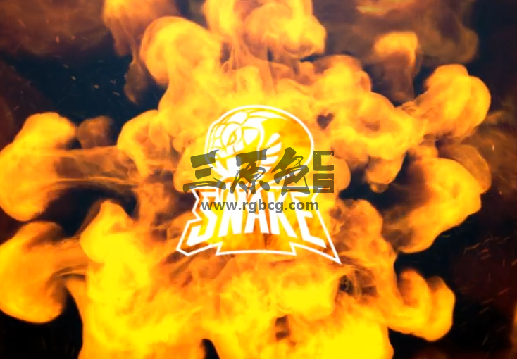 AE模板 魔术火焰蛇LOGO动画标志 Magic Snake Logo Intro Ae 模板-第1张