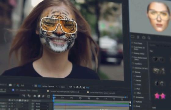 Ae脚本扩展 人脸面部跟踪 换脸合成美容变形特效预设插件