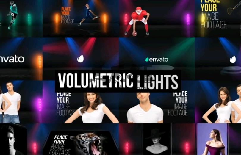 AE模板 虚拟合成背景灯光特效 Background Lights Ae 模板-第1张