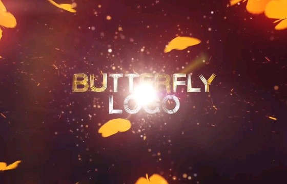 AE模板 – 蝴蝶LOGO标志片头动画 Butterfly Logo Reveal