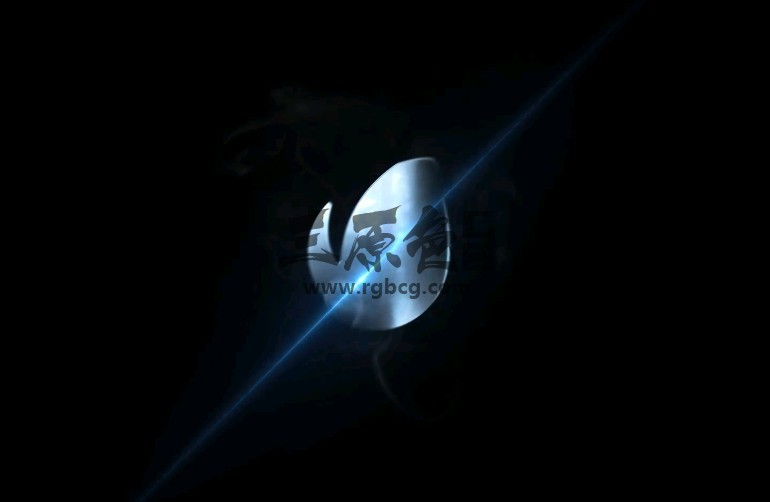 AE模板 - LOGO激光分割显示片头 Elegant Flare Split Logo Ae 模板-第1张
