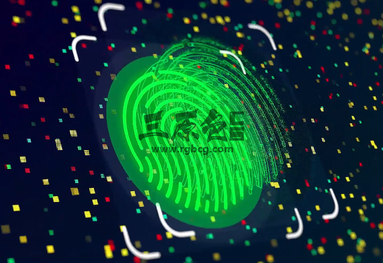 AE模板 指纹识别显示LOGO片头 Fingerprint Logo Ae 模板-第1张