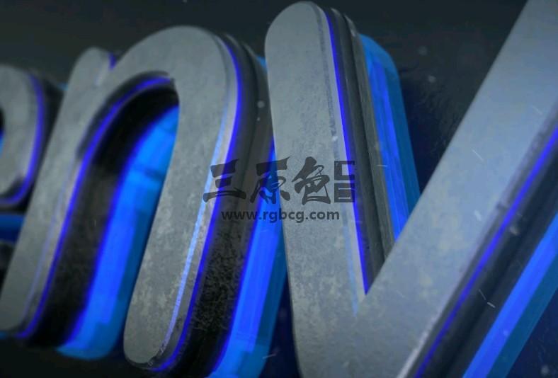AE模板 - 三维发光LOGO文字标题片头 Glow Logo Reveal Ae 模板-第1张