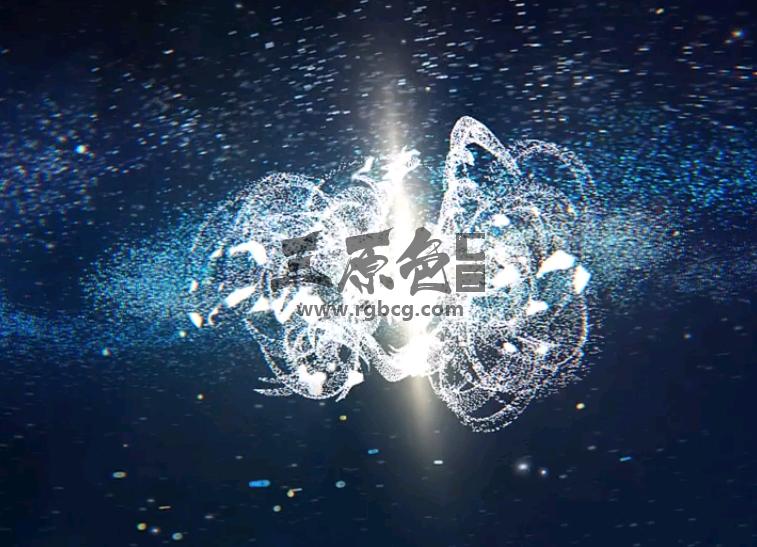 AE模板 粒子碎片汇聚特效LOGO片头 Space Logo Ae 模板-第1张