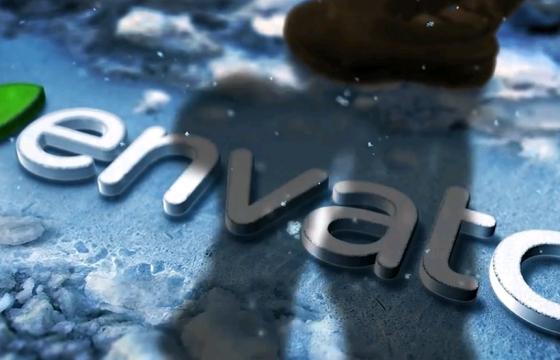 AE模板 – 冬雪结冰LOGO文字特效片头 Winter Snow Logo Title