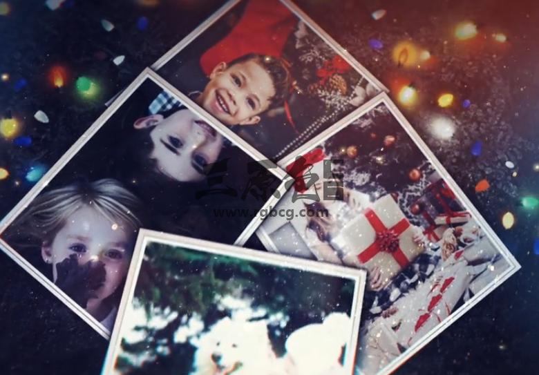AE模板 - 圣诞照片幻灯片 Christmas Photo Slideshow Ae 模板-第1张