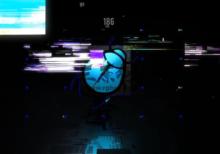 AE模板 信号不良 画面损坏特效LOGO片头 Glitch logo opener Ae 模板-第1张