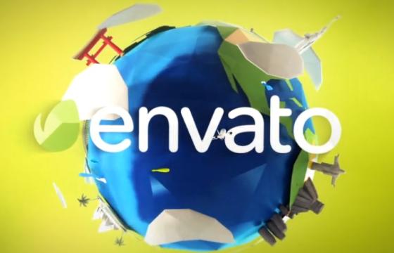 AE模板 – 多边形LOGO动画片头 Travel Logo Reveals