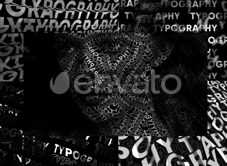 AE模板 - 文字组合图形动画特效 Typography Patterns v2 Ae 模板-第1张
