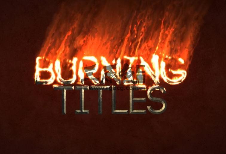 AE模板 - 真实火焰文字片头动画 Burning TItles Ae 模板-第1张