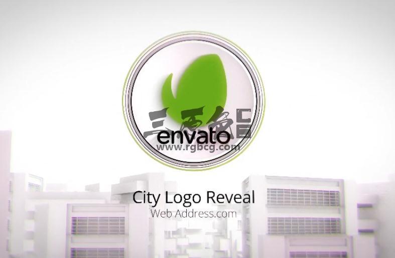 AE模板 绿色环保城市展示片头 City Logo Reveal Ae 模板-第1张