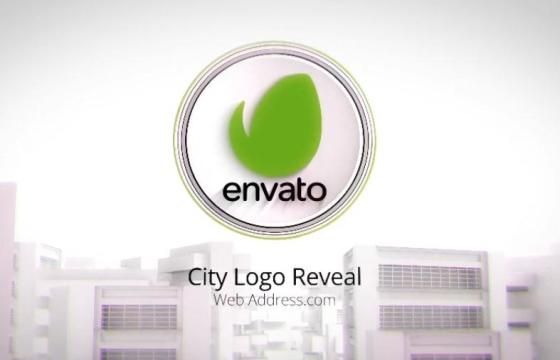 AE模板 绿色环保城市展示片头 City Logo Reveal