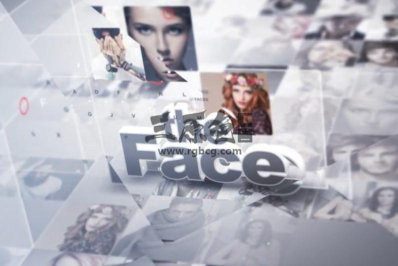 AE模板 动感时尚人物照片介绍片头 Faces Of The Day Ae 模板-第1张