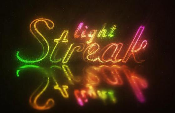 AE模板 彩色霓虹风格文字LOGO效果 Light Streak Logo 4K UltraHD