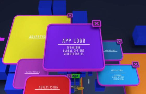 AE模板 创意APP 项目功能展示介绍 VideoHive New App