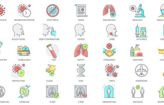 AE模板 – 新型冠状病毒肺炎防护图标动画 Animation Icons