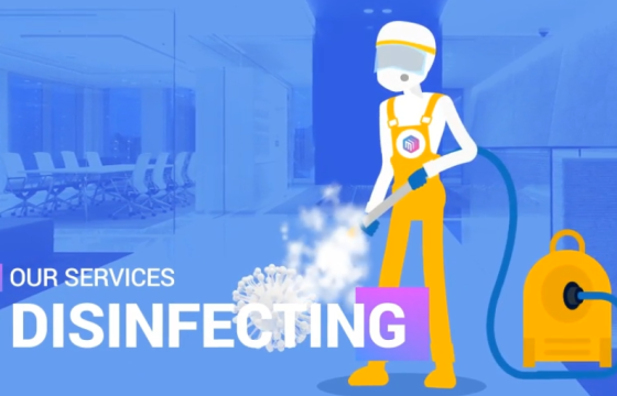 AE模板 – 消毒清洁MG卡通图形动画 Disinfection Cleaning services