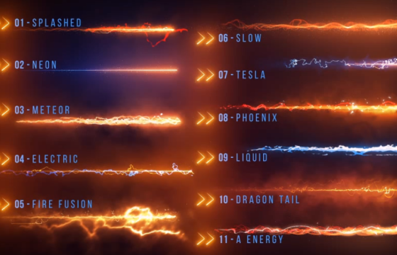 AE预设-能量线条激光电流特效动画 Path Energizer