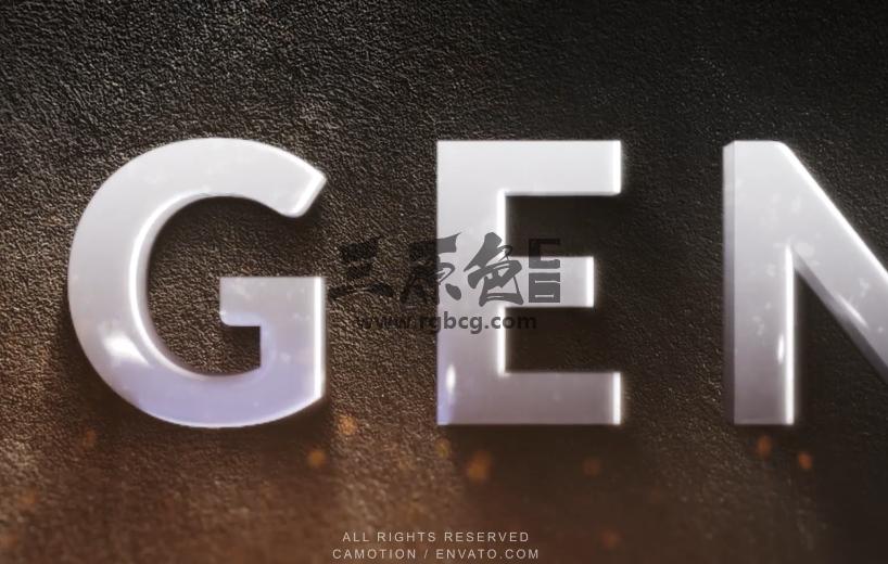 AE模板 - 史诗级文字LOGO标志显示动画 Epic Fire Logo Reveal Ae 模板-第1张