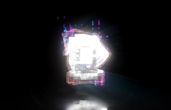 AE模板 信号干扰损坏效果LOGO显示 Fast Glitch Logo Intro 2