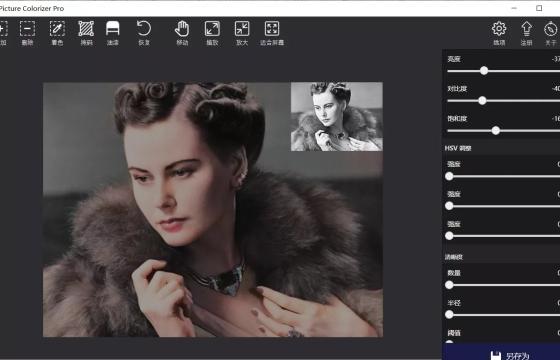 黑白照Ai一键上色软件 Picture Colorizer Pro v2.3.3 中文一键安装版