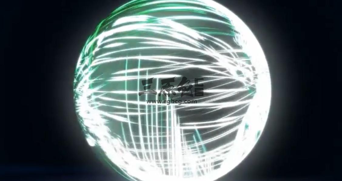 AE模板 球形粒子特效LOGO标志开场动画 Spherical Logo Form Ae 模板-第1张